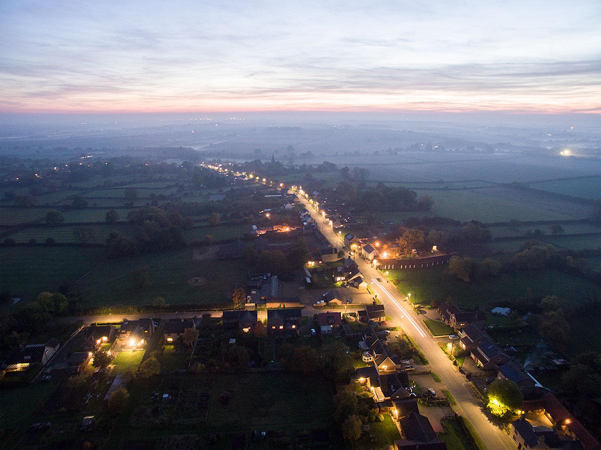 Aerial photography - dusk