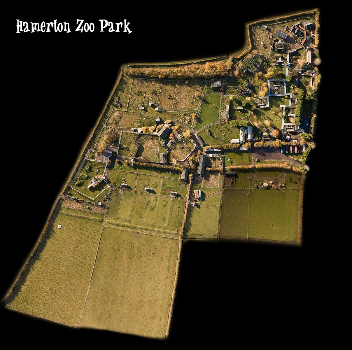 Hamerton Zoo Park - aerial photography