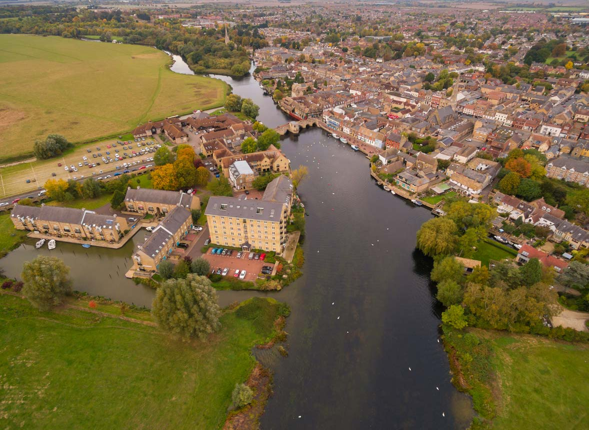 Aerial drone photography Cambridgeshire - property