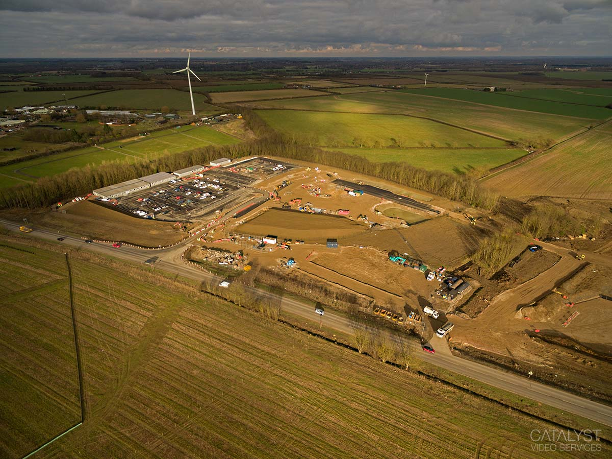 Aerial photography - new A14 and A1198 development area