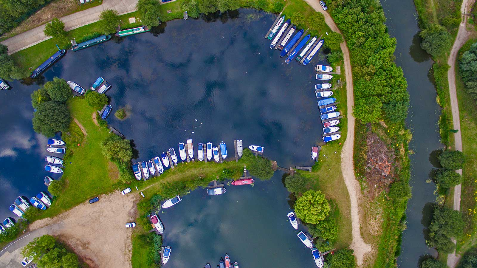 Drone photography Cambridgeshire marina