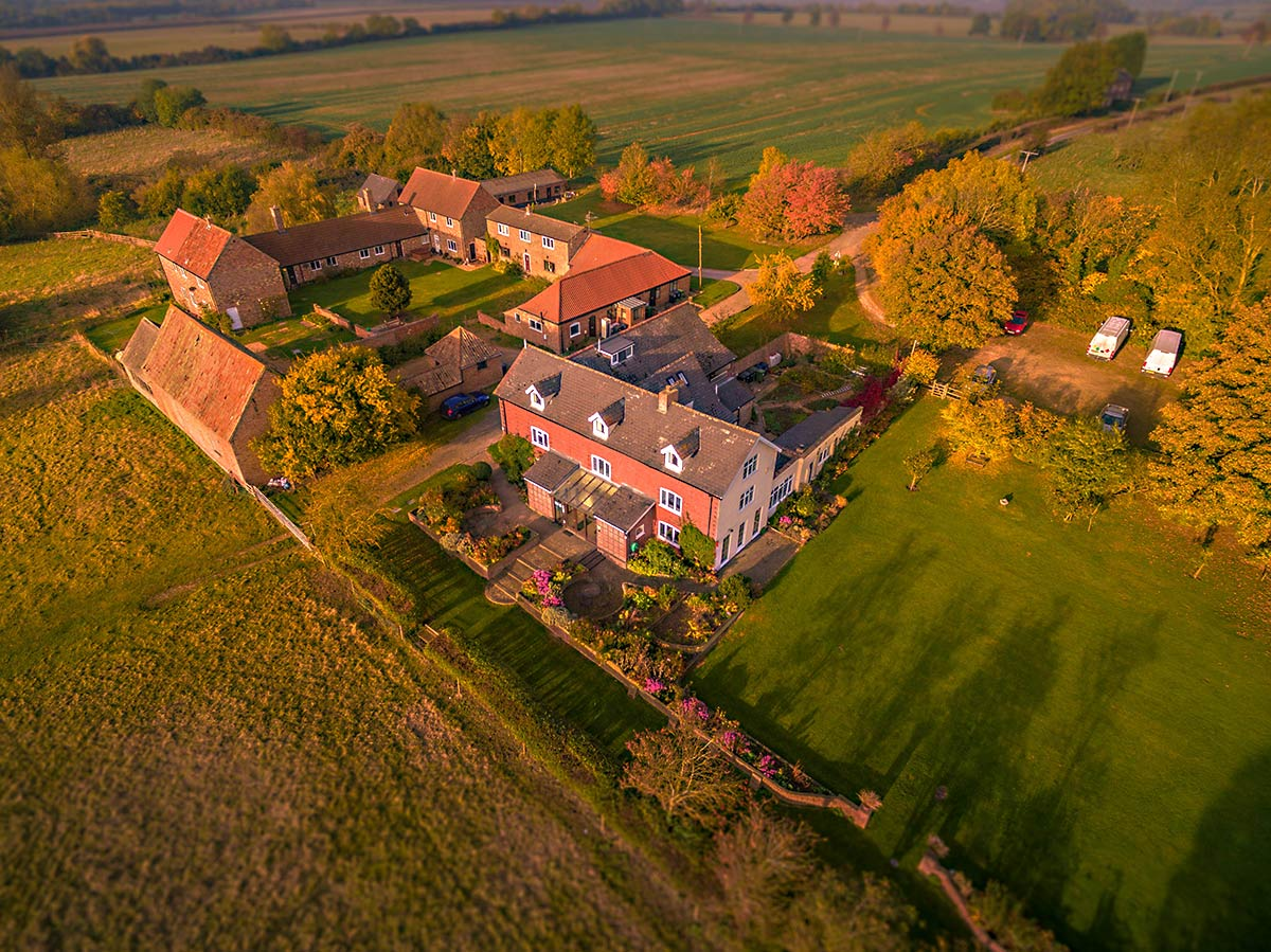 Aerial property photography for estate agents