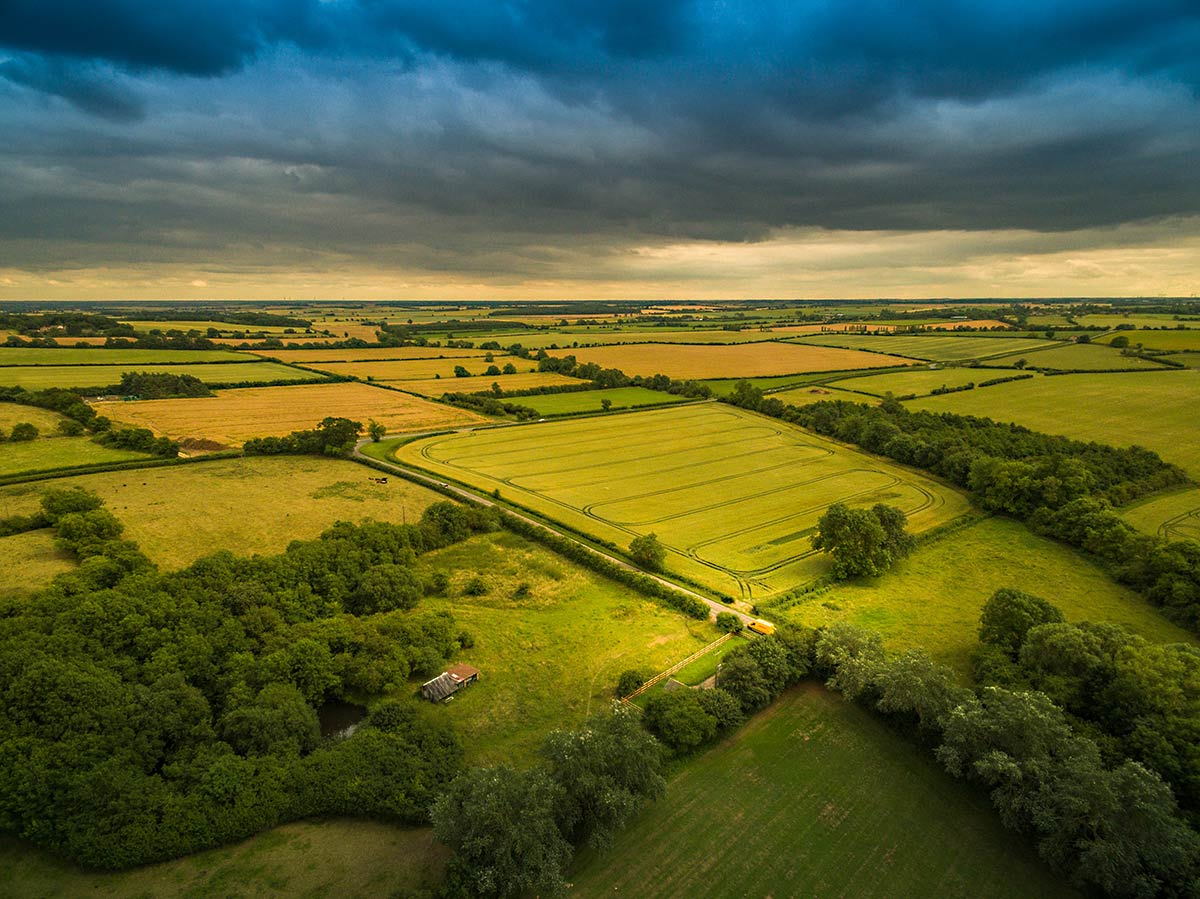 Aerial photography - Northamtonshire farmland