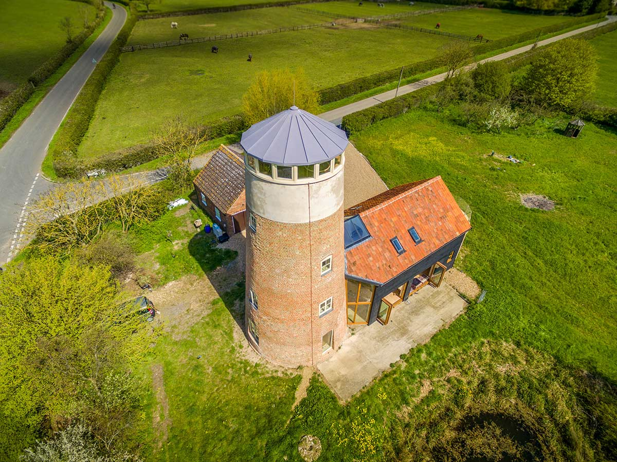 Aerial property photography of mill conversion