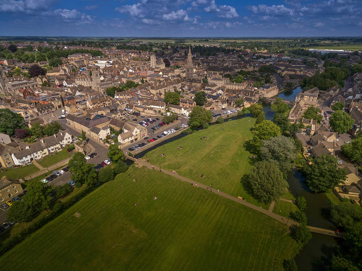 Aerial photography - Stamford, Lincs