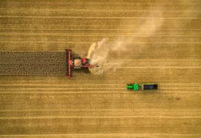 Aerial photography of farming services
