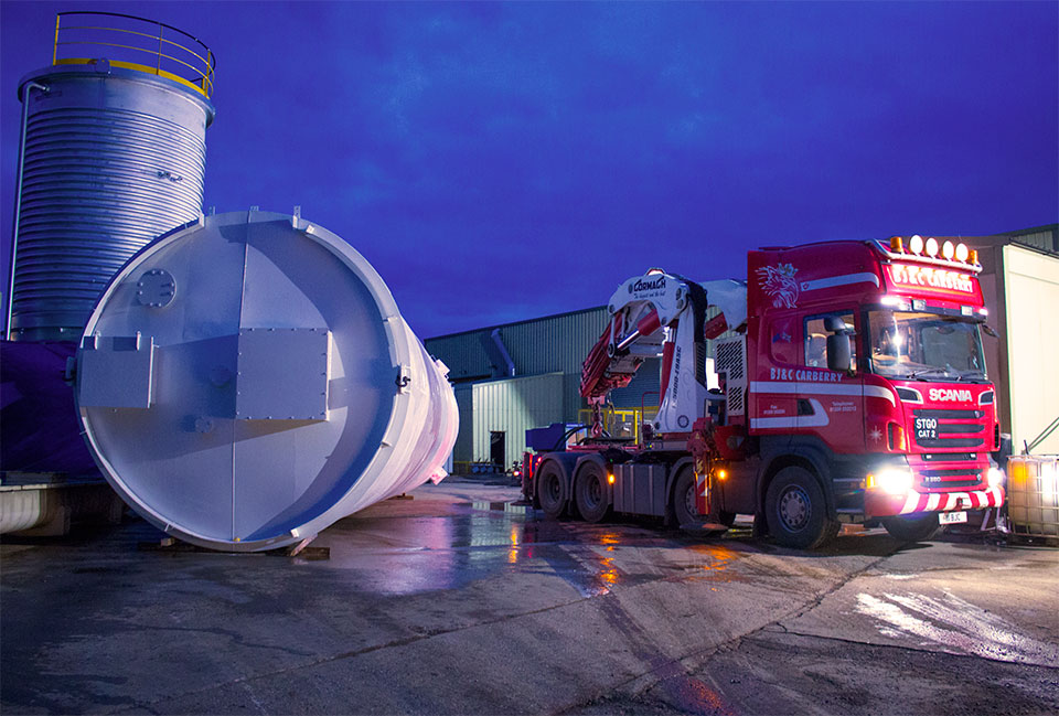 Video of silo loading operation for engineering company