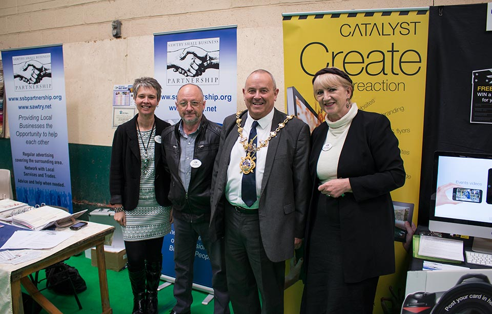 Catalyst Video Services exhibit at the Huntingdonshire Business Fair 2015