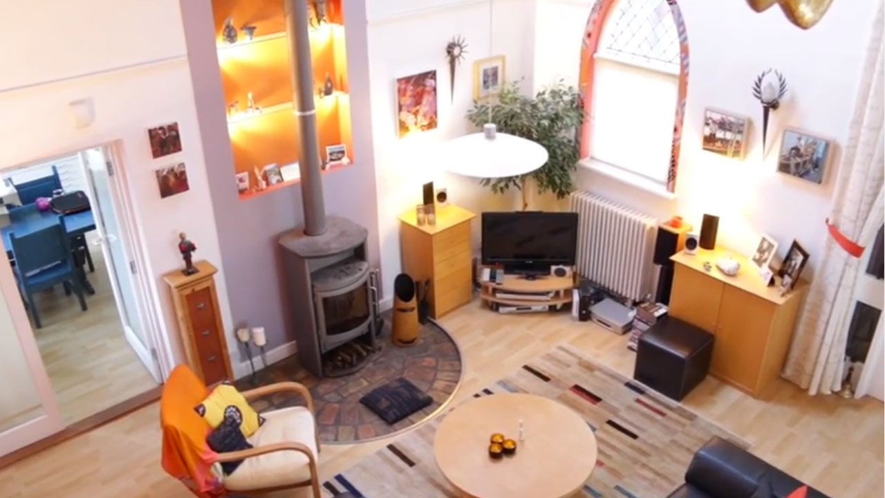 Property video of converted chapel in Cambridgeshire