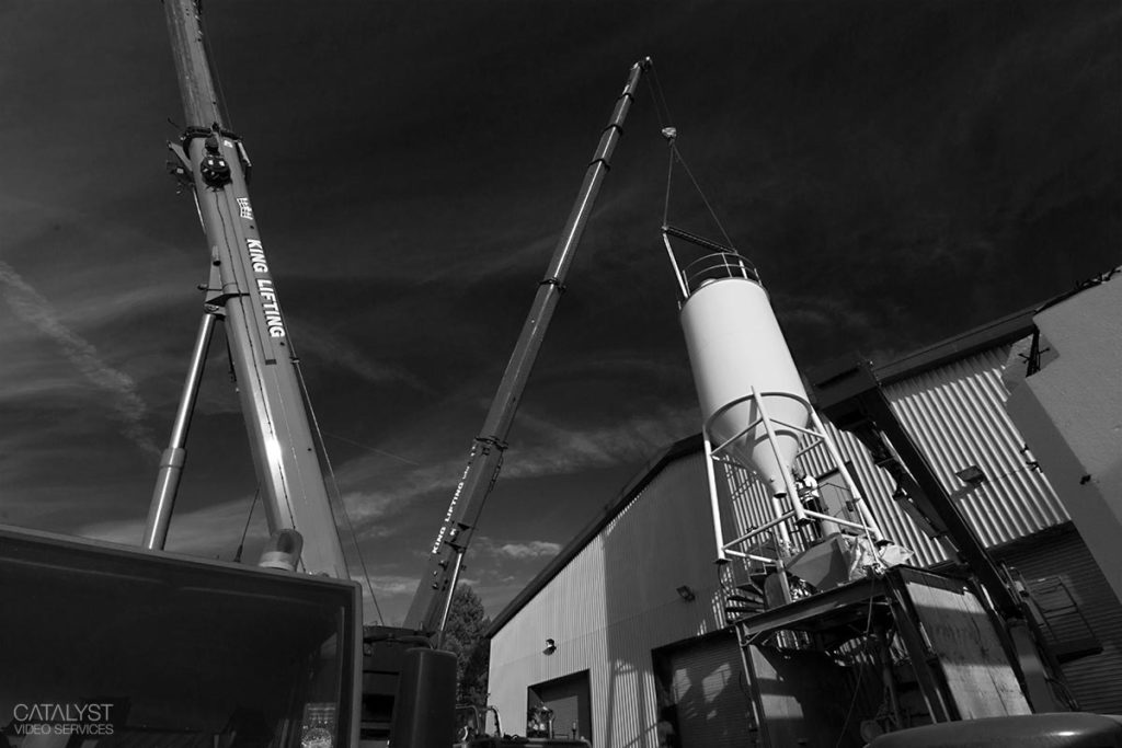 Location photography - silo installation