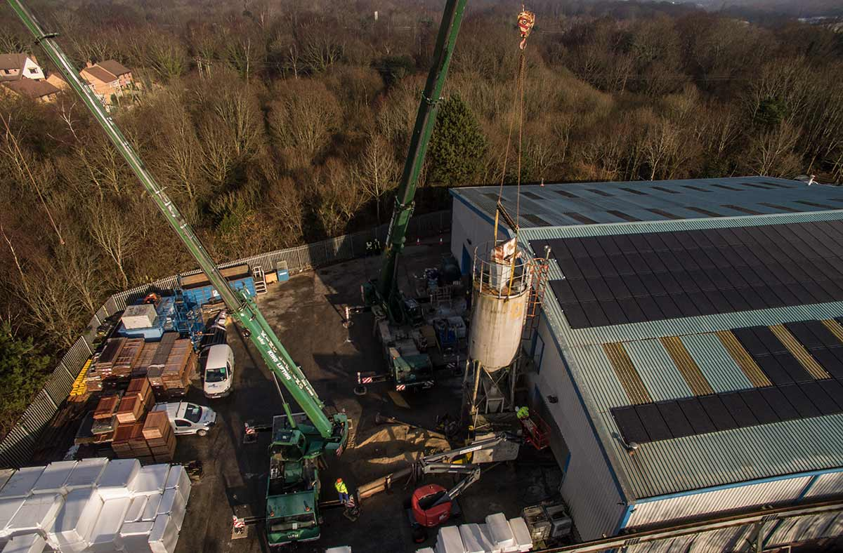 Silo removal - aerial photography