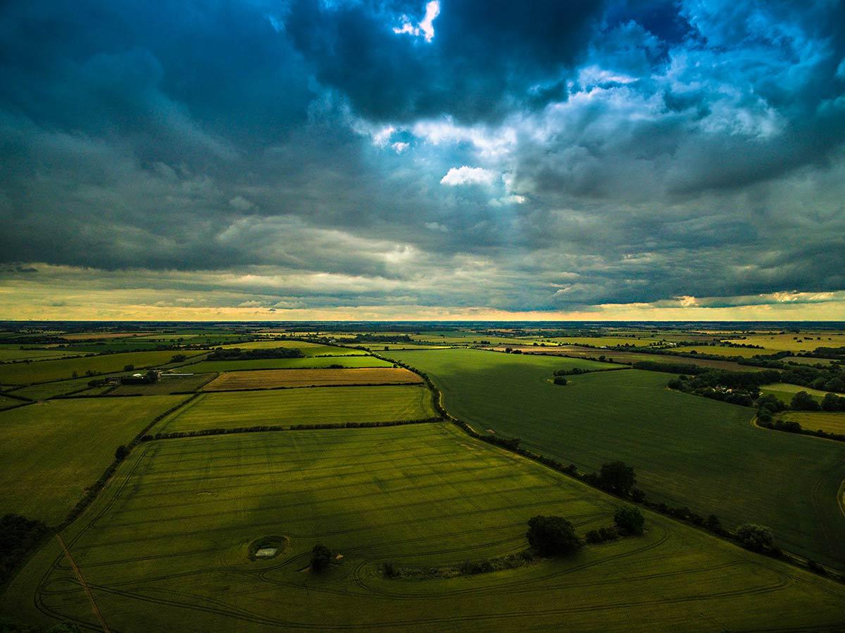 Aerial photography - Northamtonshire farmland