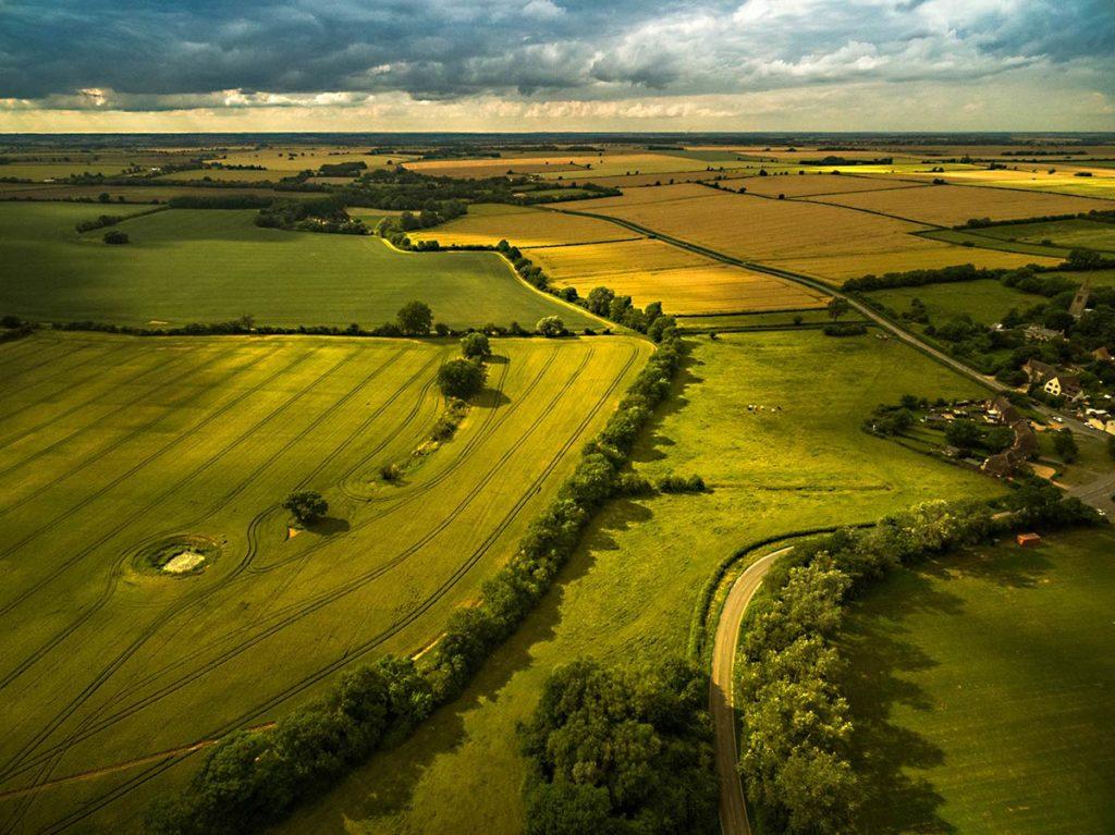 Aerial photography - Cambridgeshire farmland