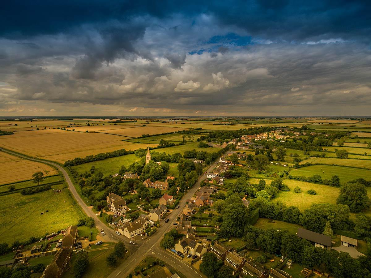 Aerial photography -  Cambridgeshire village