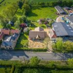 Aerial photography - new build bungalow in Cambridgeshire