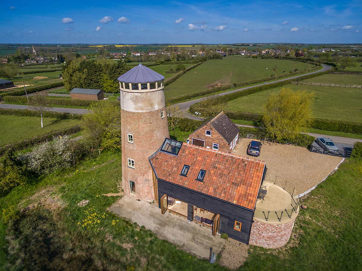 Aerial photography of mill conversion