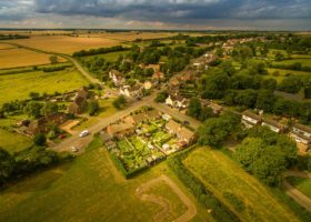 Aerial photography - Cambridgeshire village