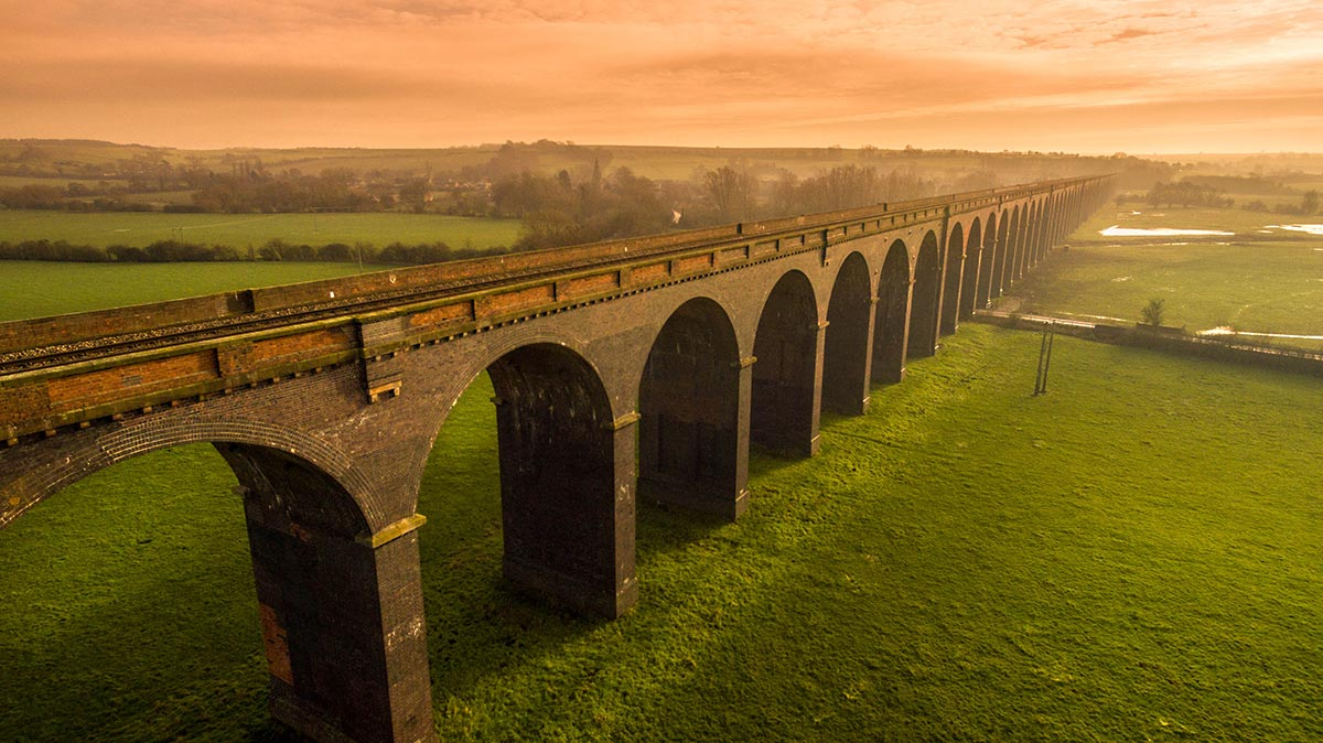 Aerial photography - Harringworth viaduct