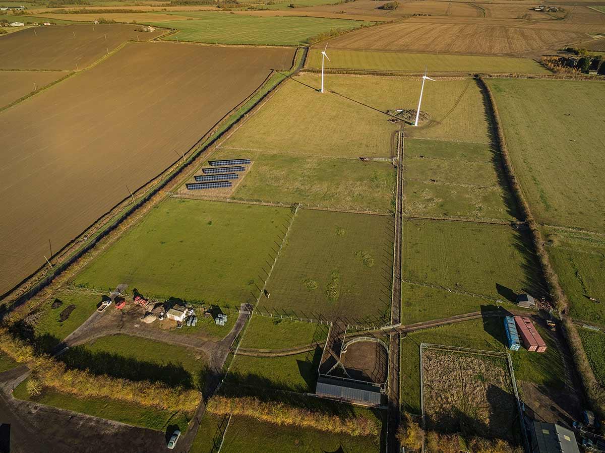 Photographing farmland