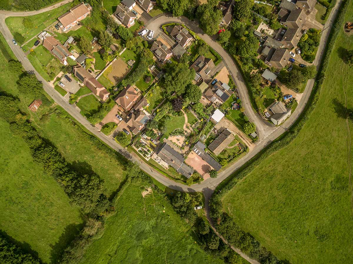 Eyecatching and intriguing - Vertical aerial photography.
