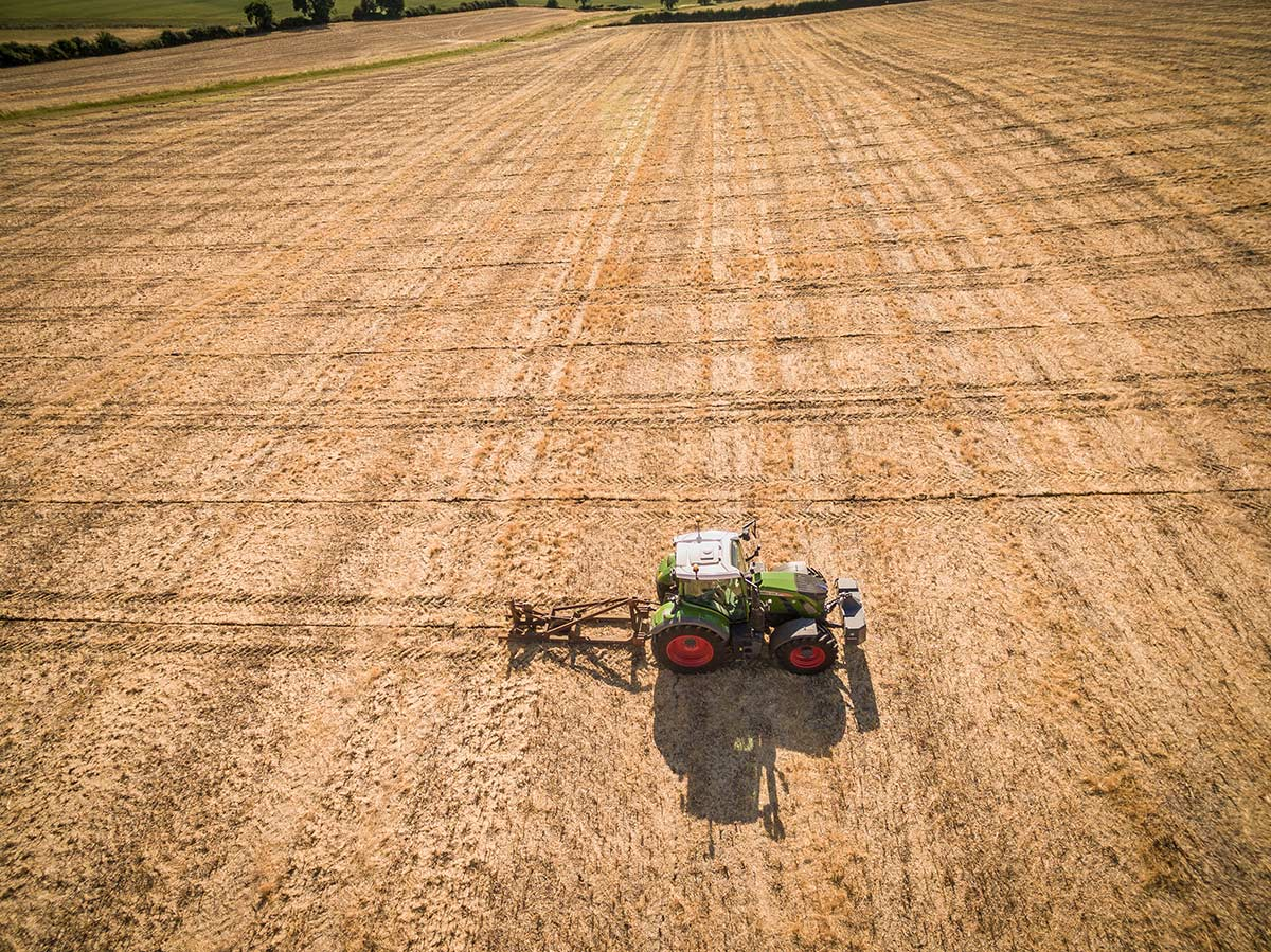 Aerial photography of farming in Cambridgeshire