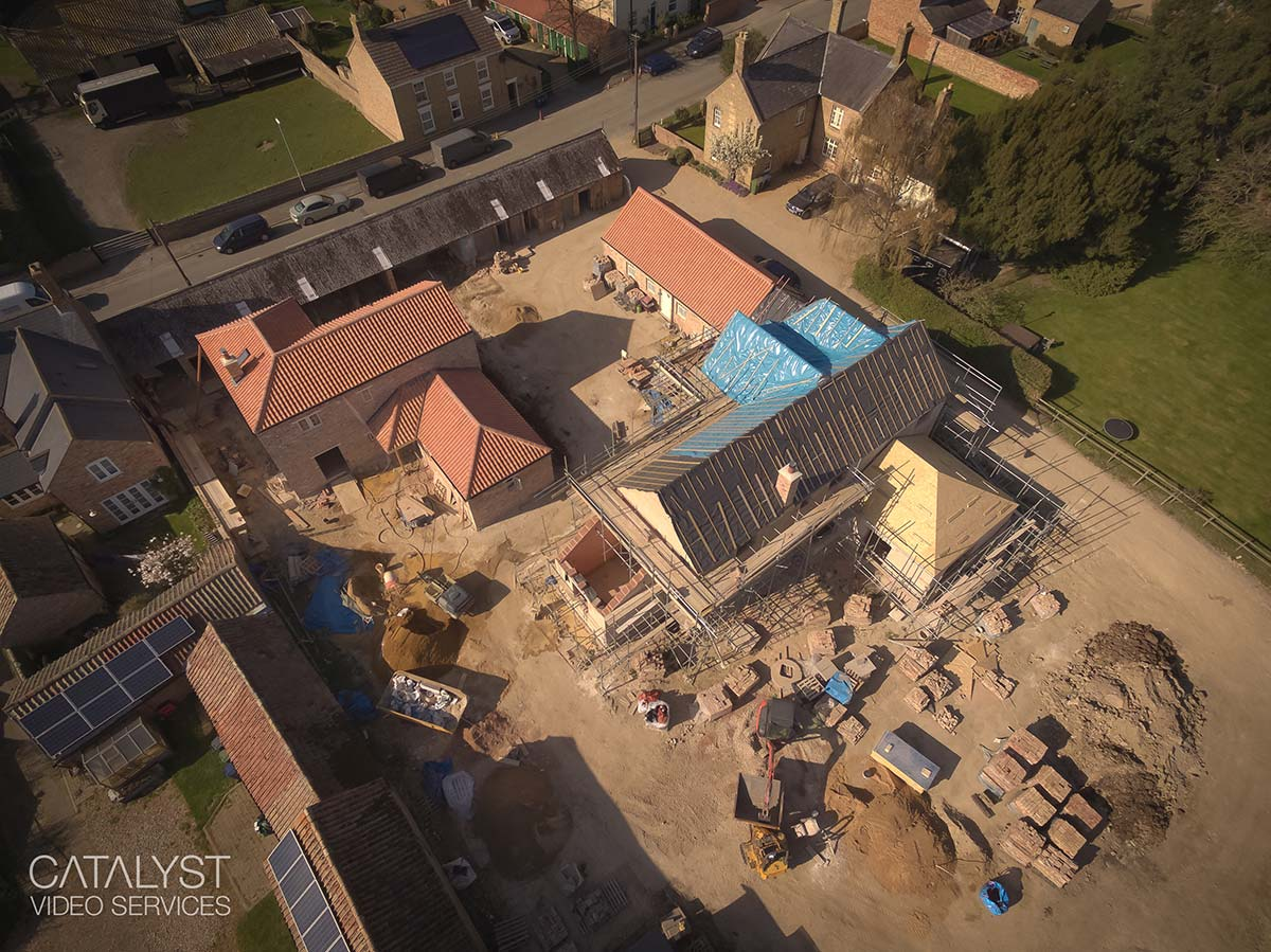 Aerial photography of residential development