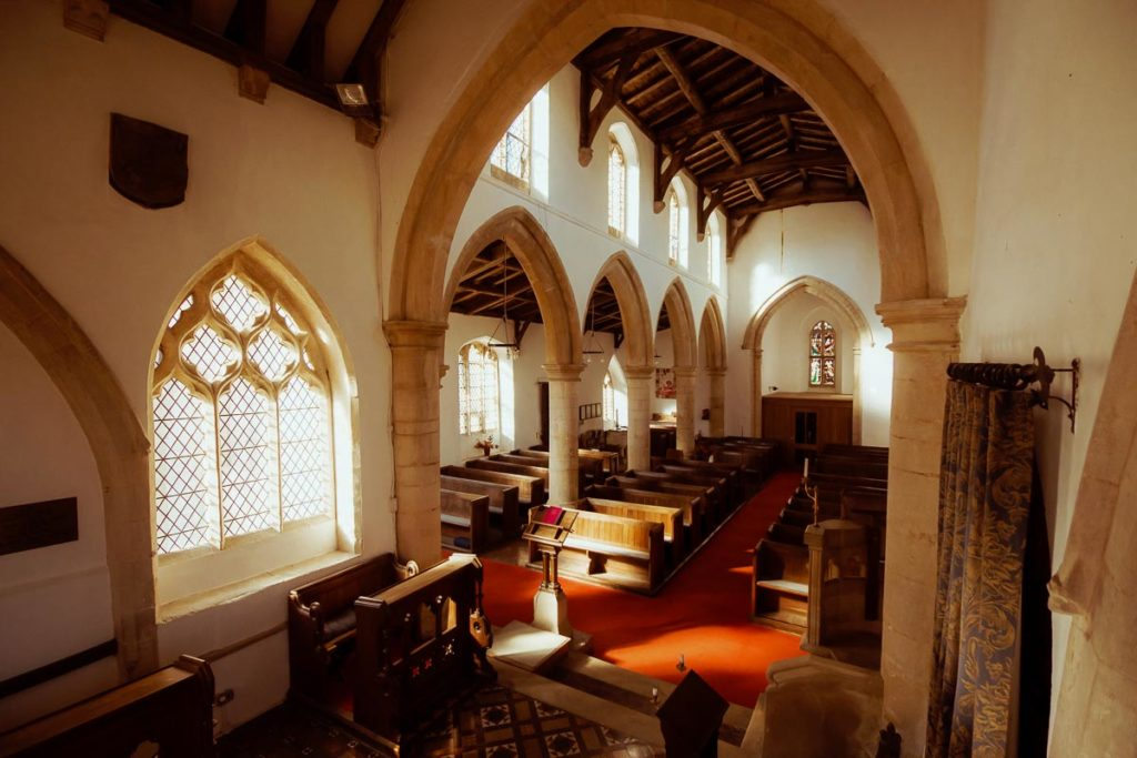 Photography of church interior