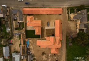 Aerial photography of new-build development