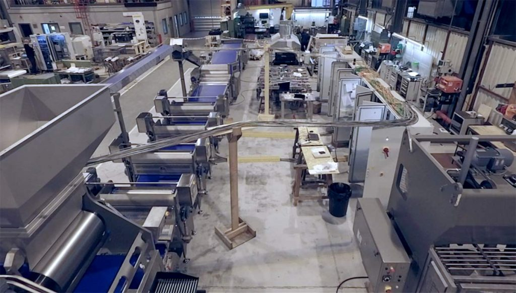 Indoor drone video shoot at engineering company in Peterborough
