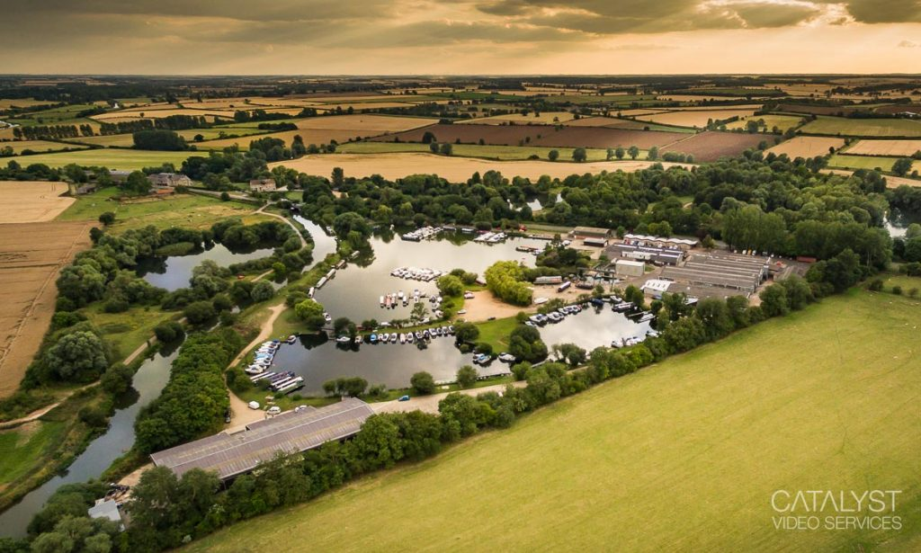 Oundle Marina - aerial photography