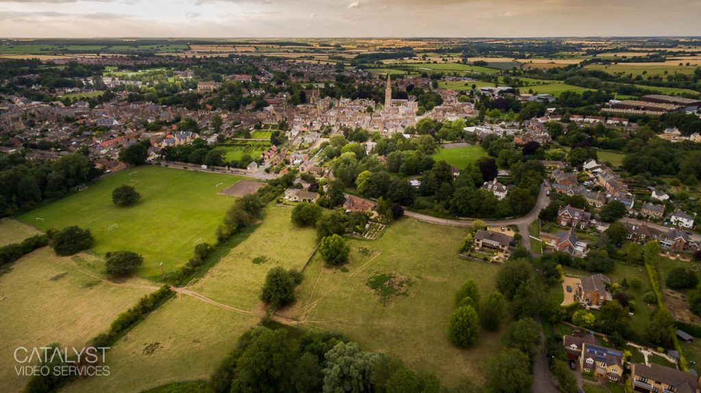Aerial photography - Oundle, Northamptonshire