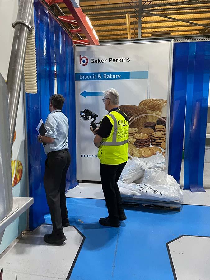 Factory walkthrough using DJI Ronin motorised stabiliser
