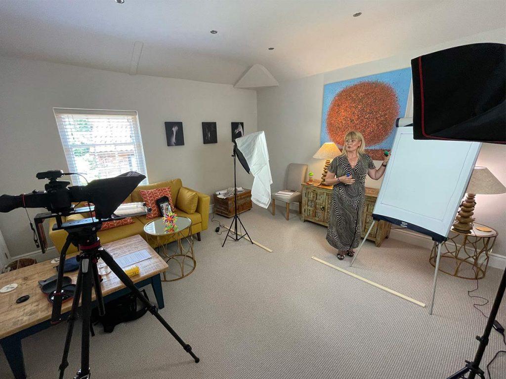 Filming of training videos